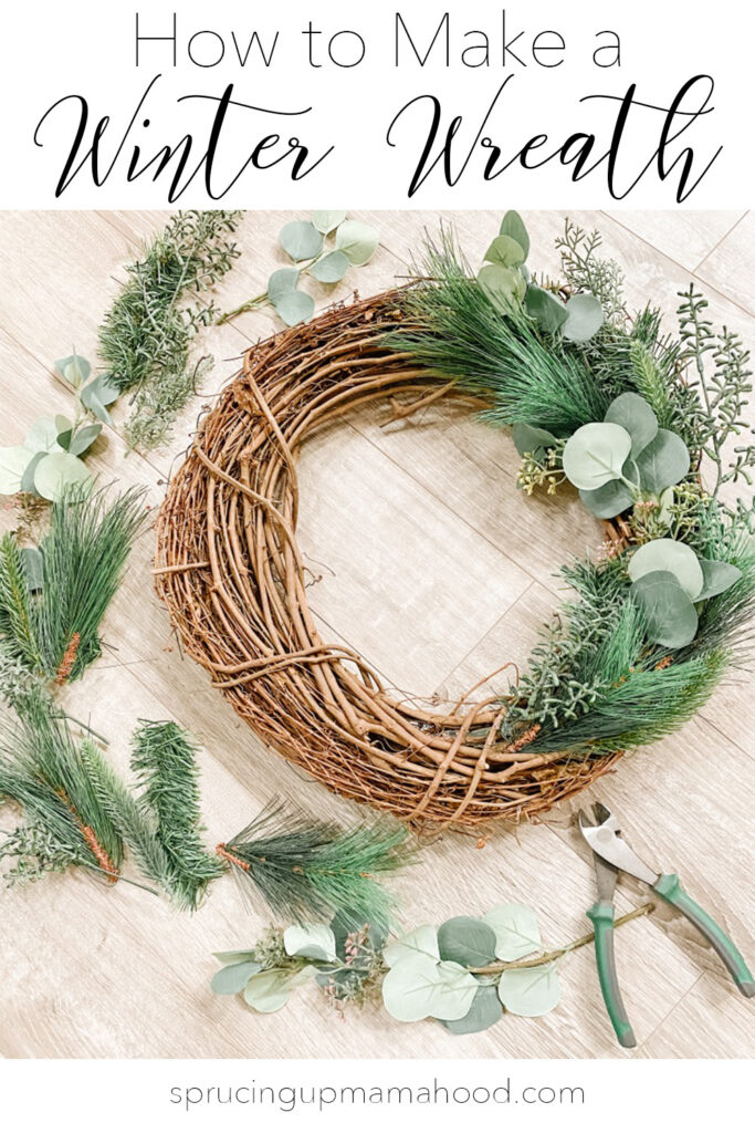 How to Make a Winter Wreath that can transition from Winter to Spring
