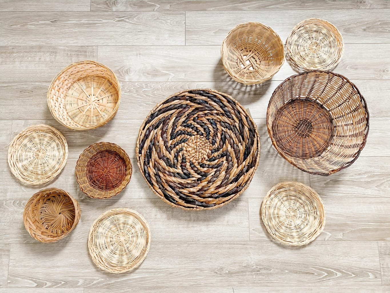 layout of wall baskets