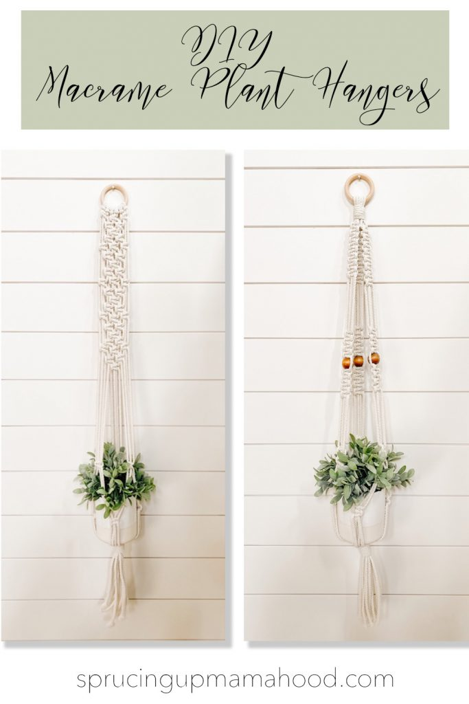 diy macrame plant hanger with wooden beads