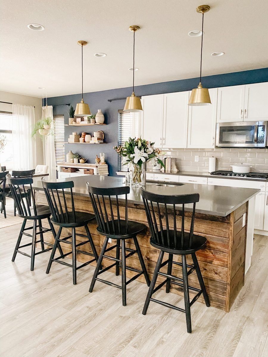kitchen island shiplap