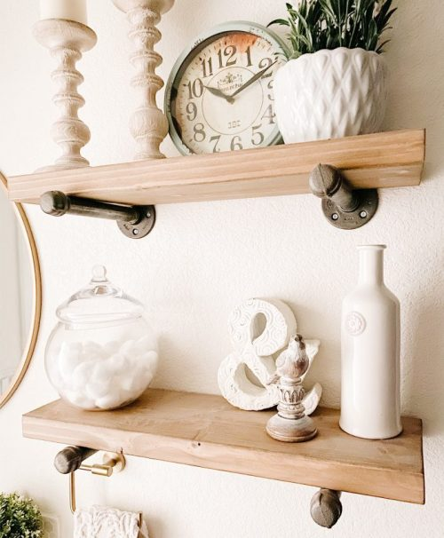 How To Make Simple DIY Industrial Shelves