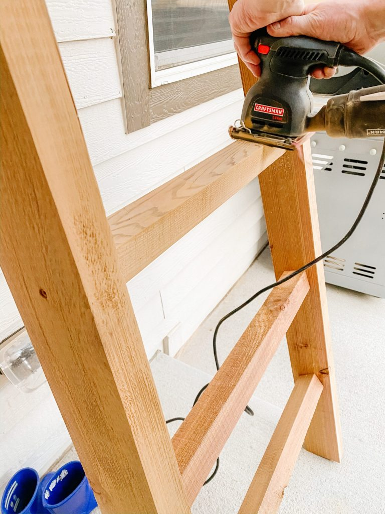 sanding blanket ladder