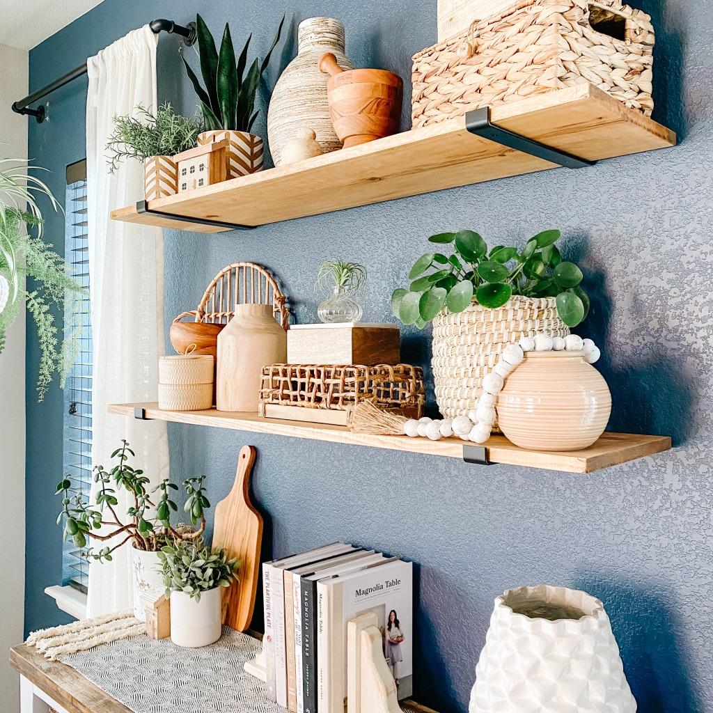 tips for styled shelves