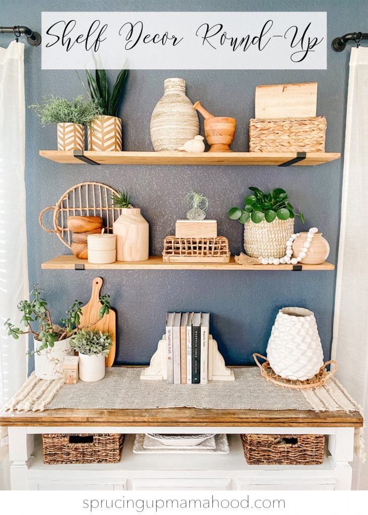 shelf decor round up