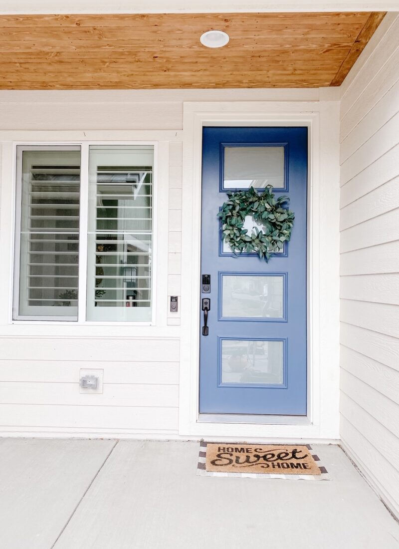Front Porch DIY Wood Ceiling