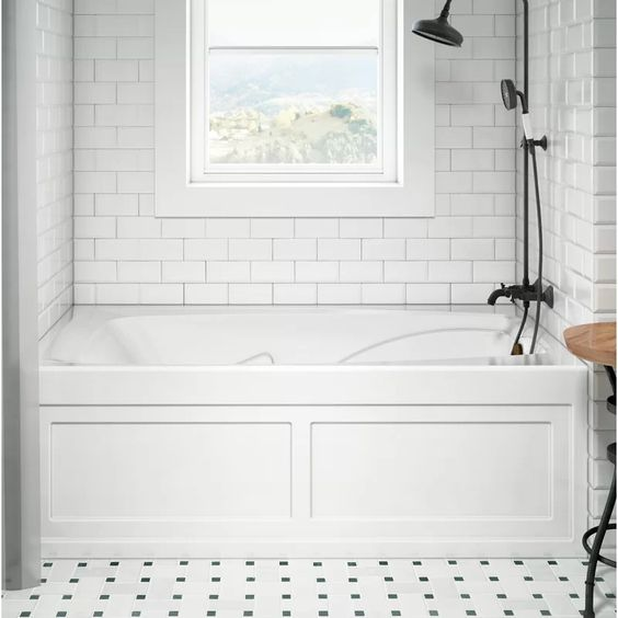 bathroom soaking tub shower combo