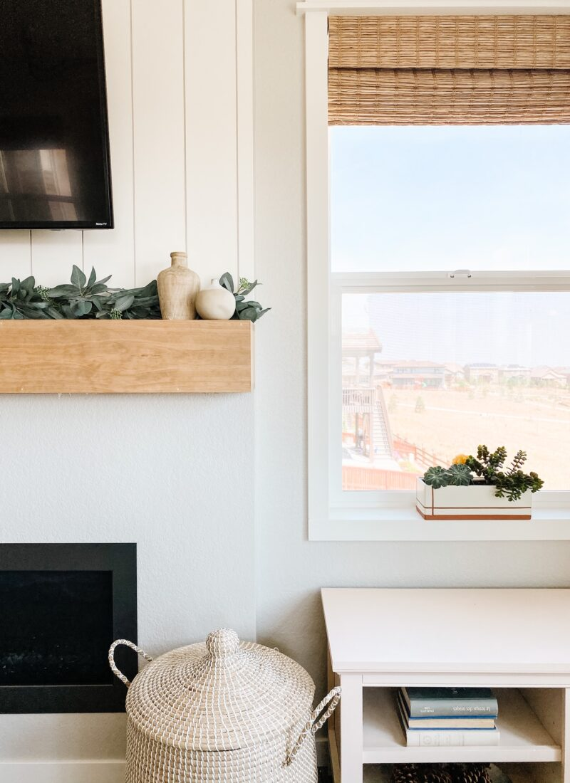 How To Make An Easy DIY Fireplace Mantel