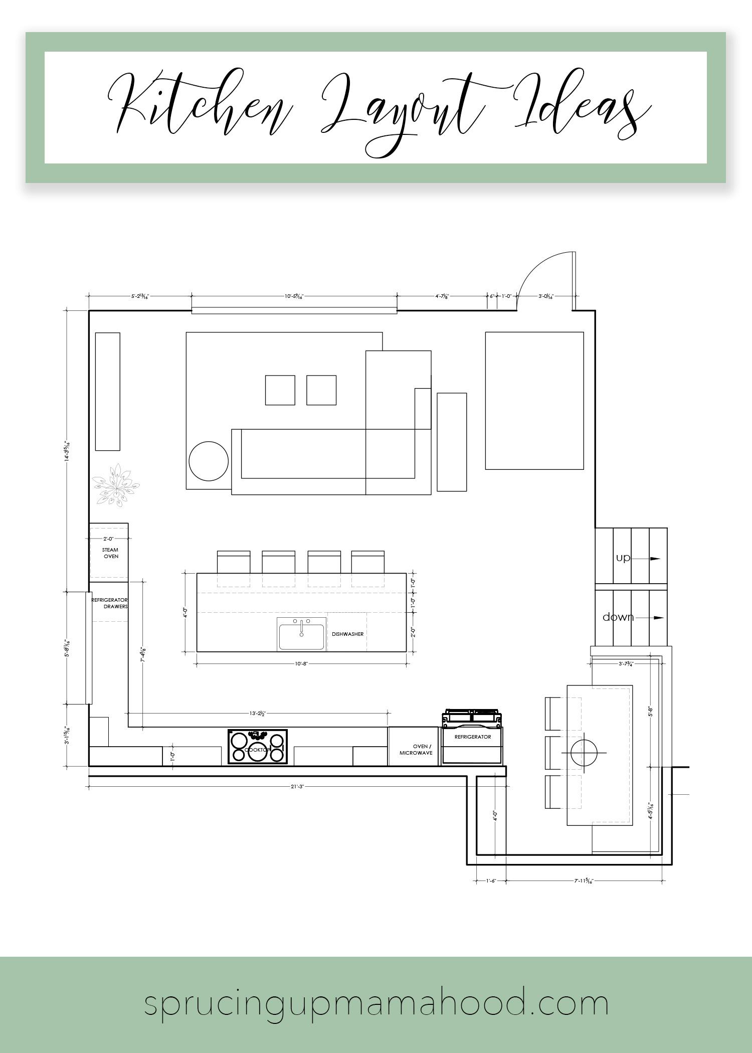 Kitchen Layout Ideas & Remodel Update