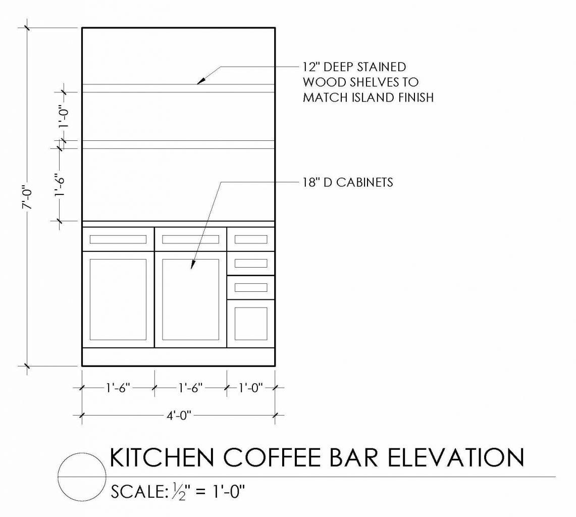 coffee bar elevation