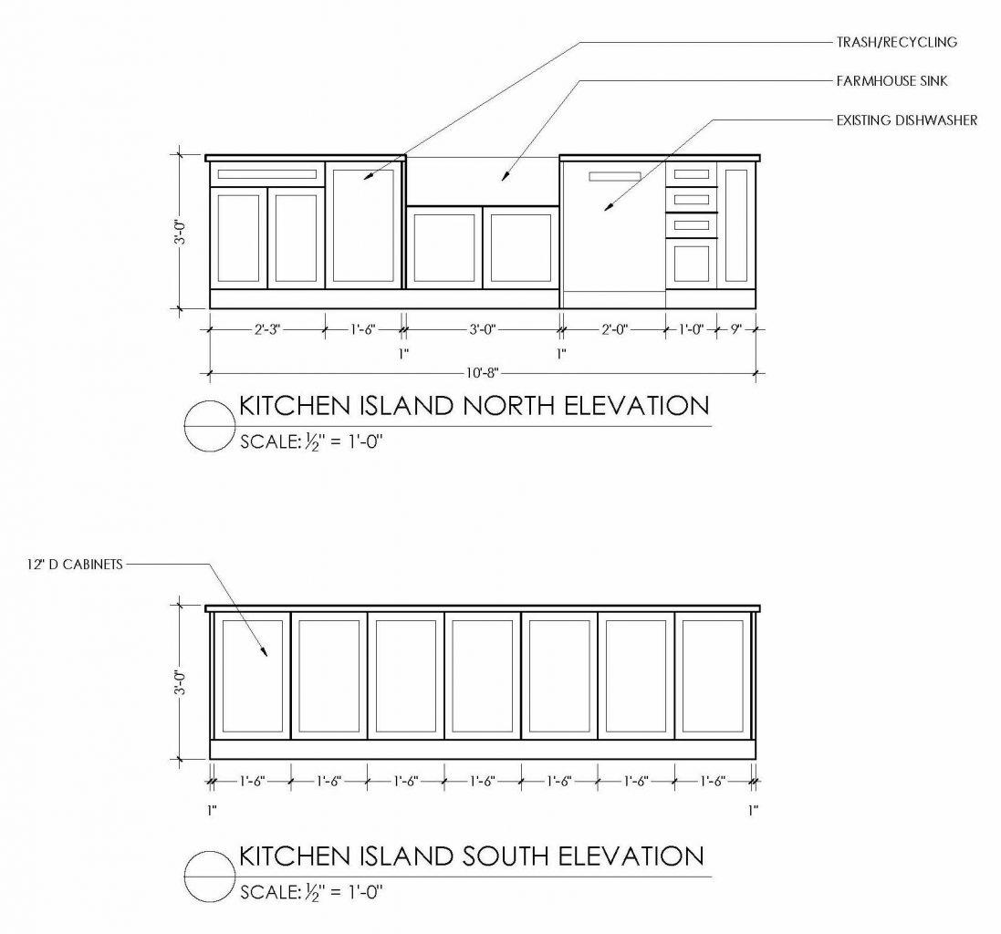 kitchen island elevations