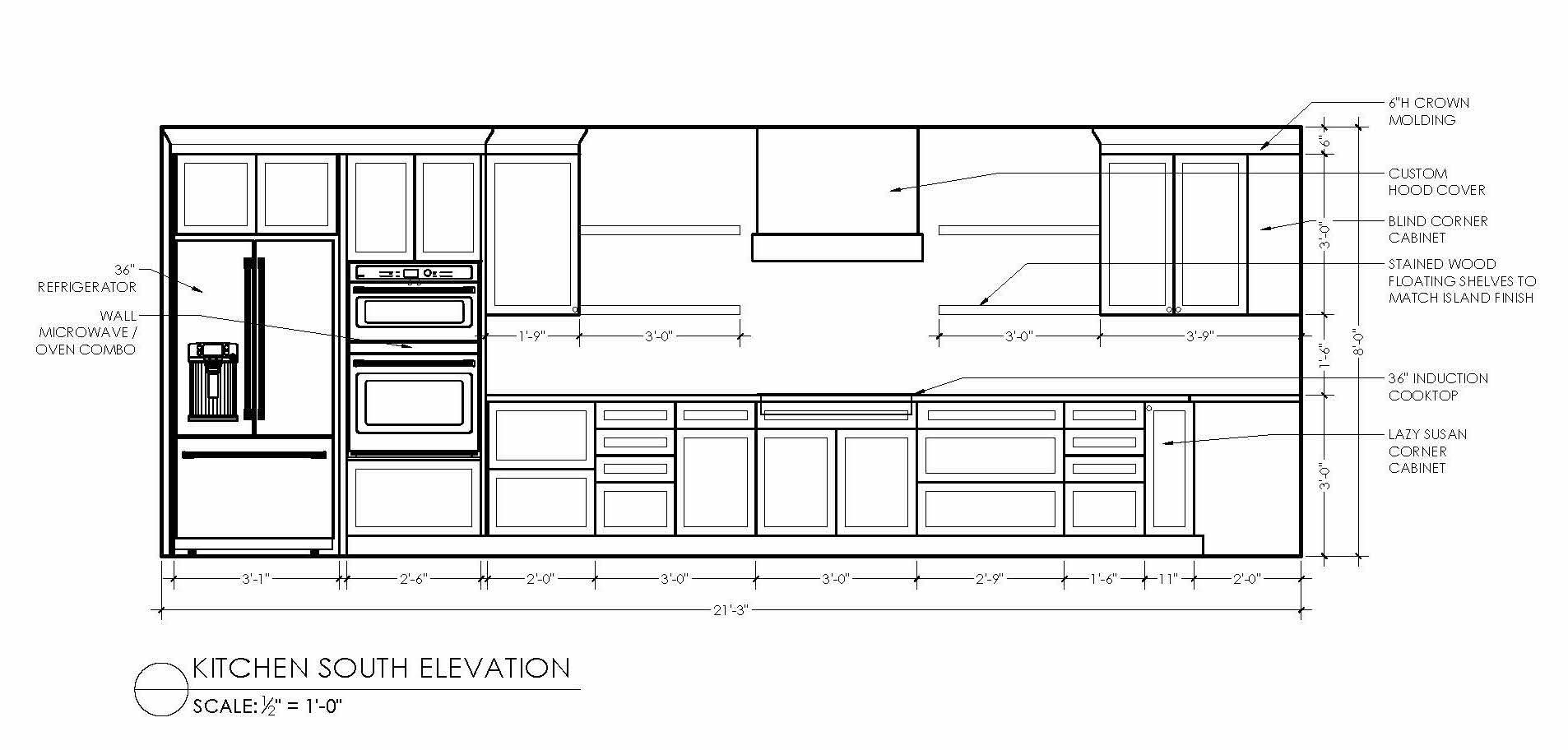 kitchen south elevation