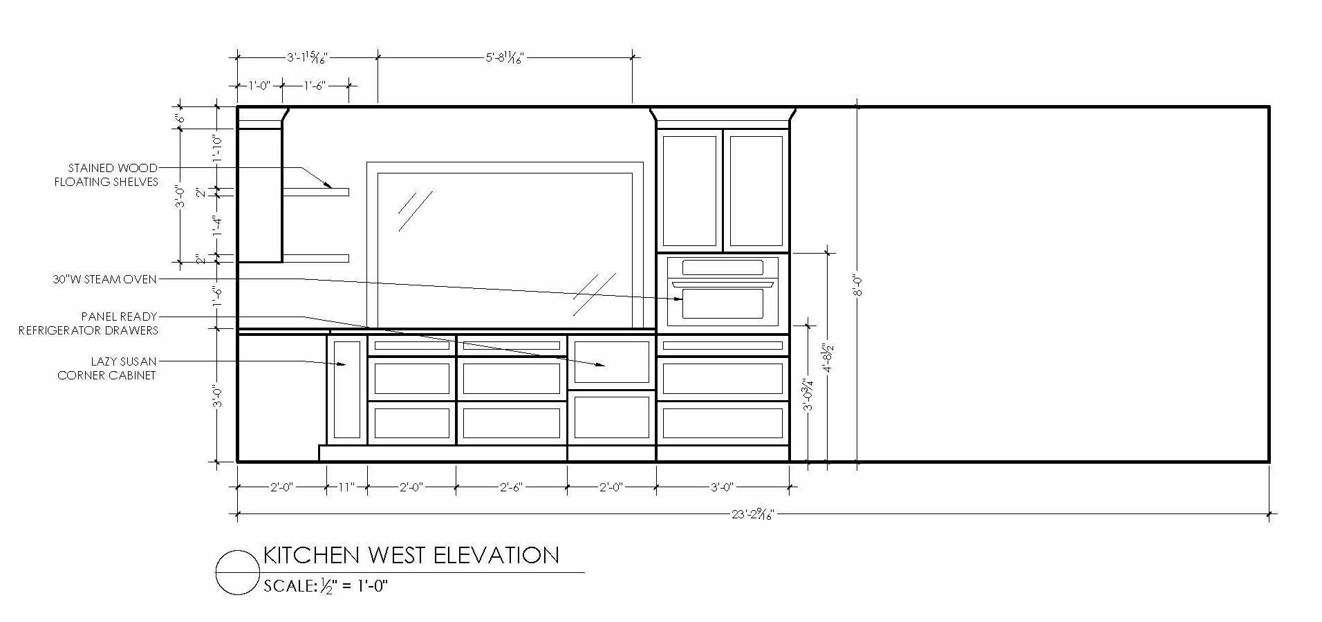kitchen west elevation