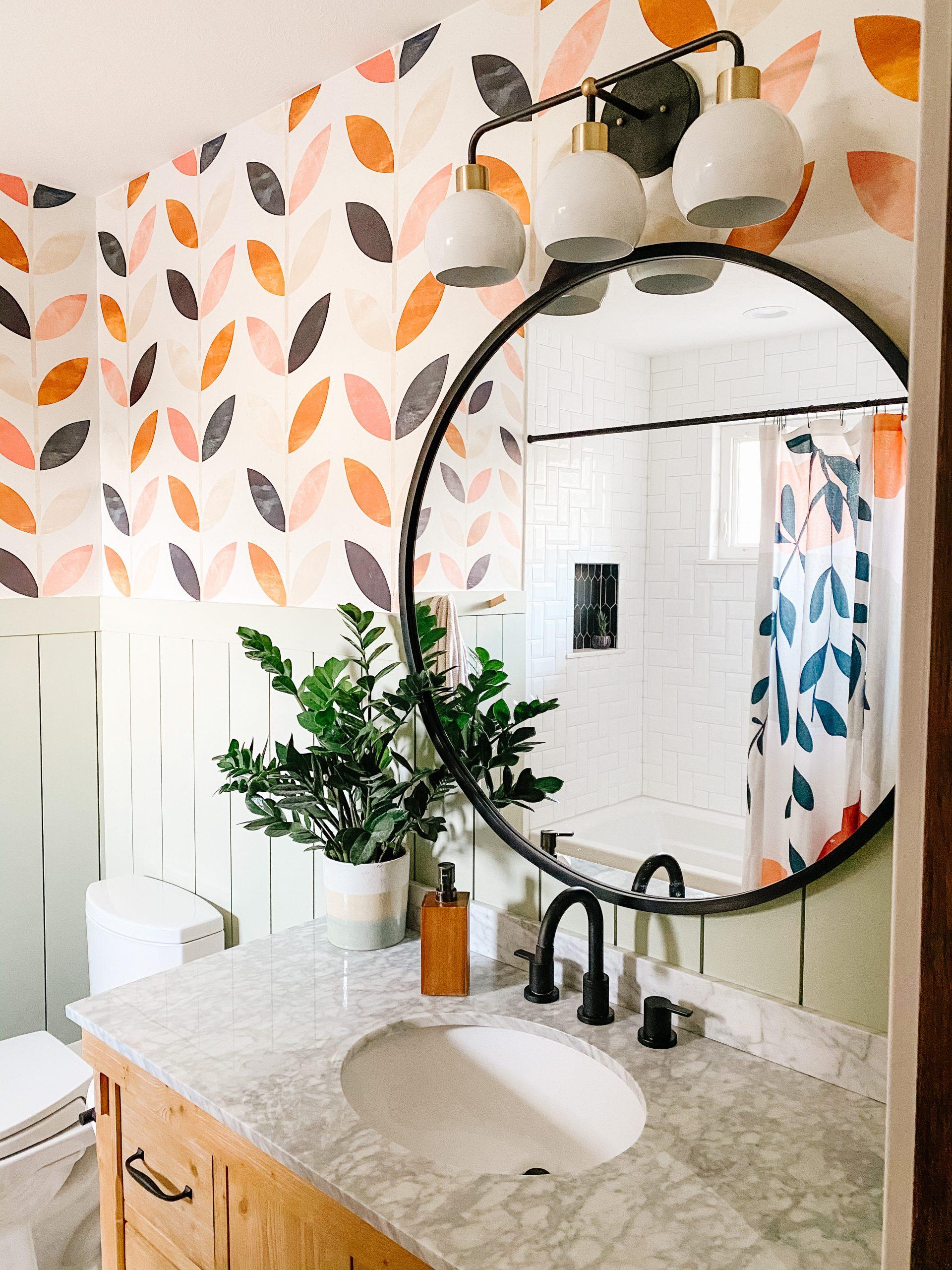 boho bathroom wallpaper