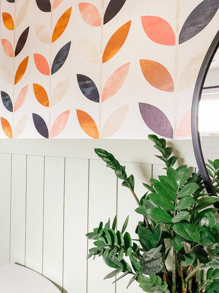 sage green shiplap and scandi peel and stick wallpaper