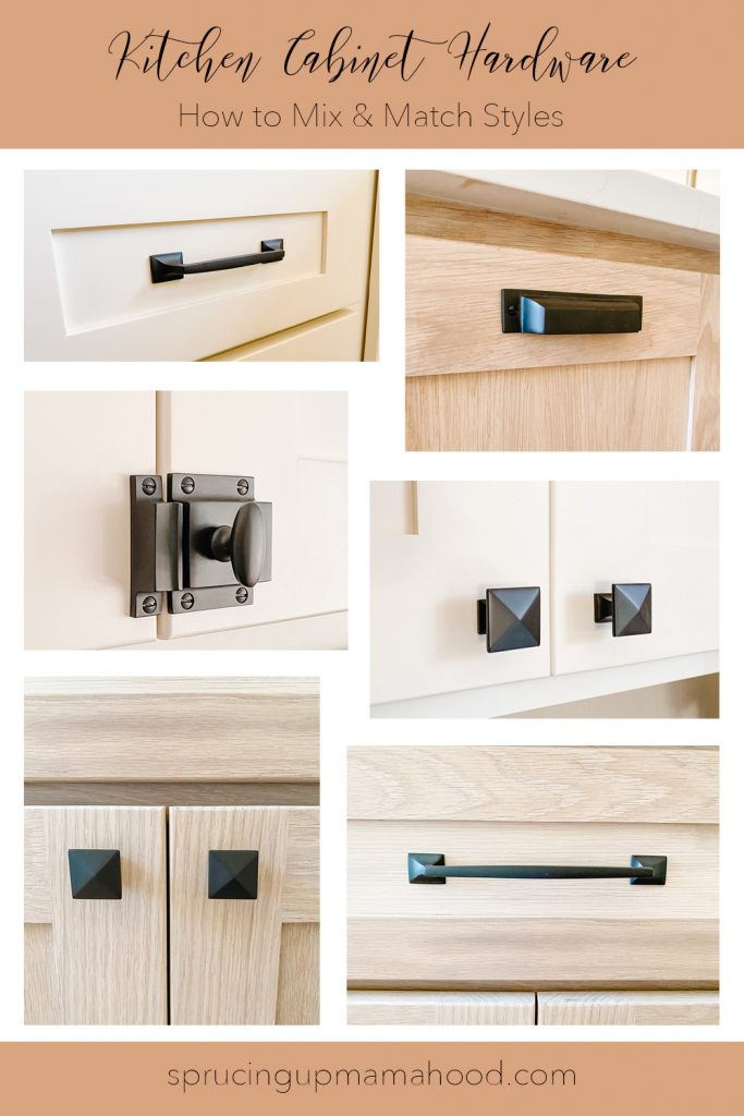 Top 3 tips for how to mix and match cabinet hardware, and other tips to select the right hardware for your Kitchen