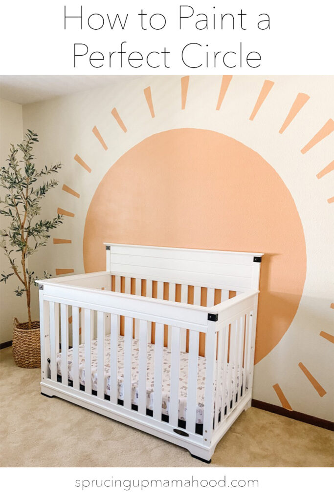 How to paint the perfect circle with a diy boho sun mural