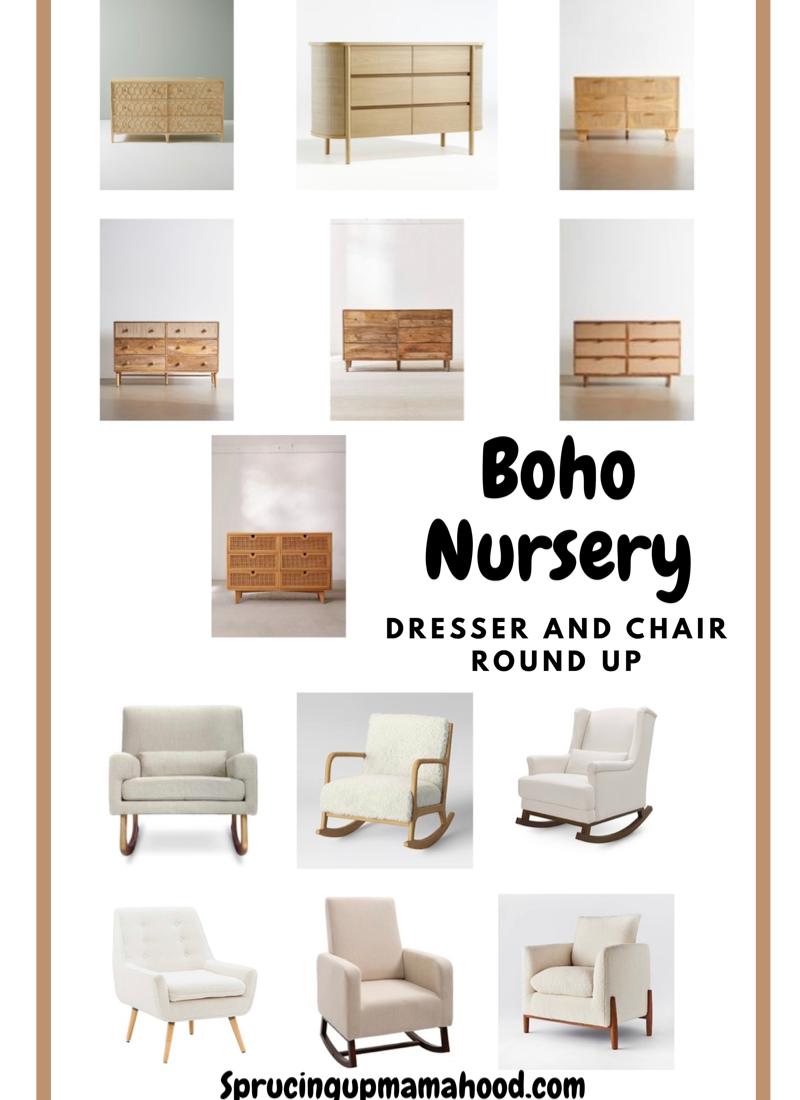 Boho Nursery Chair and Dresser Options – ORC Week 2
