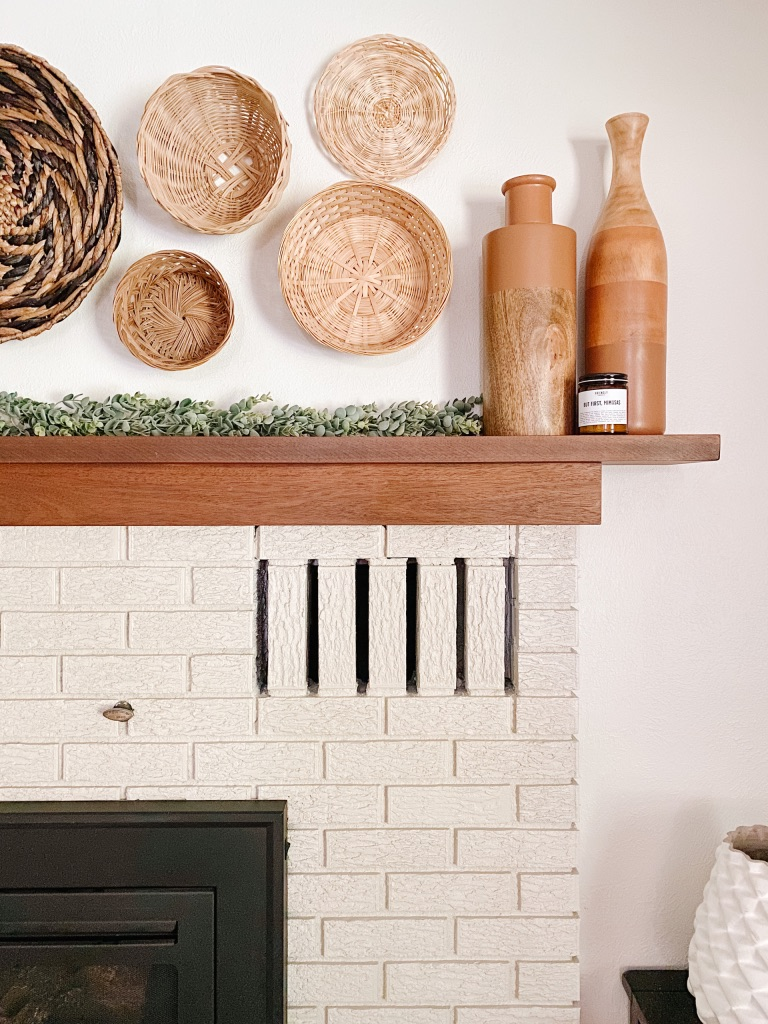 fireplace makeover after paint