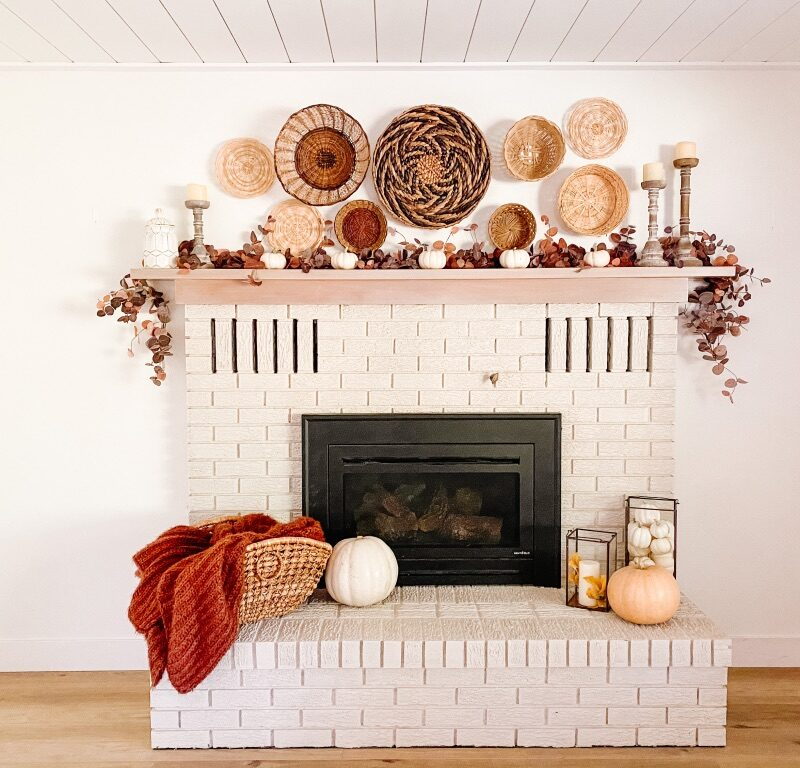 simple diy fireplace makeover