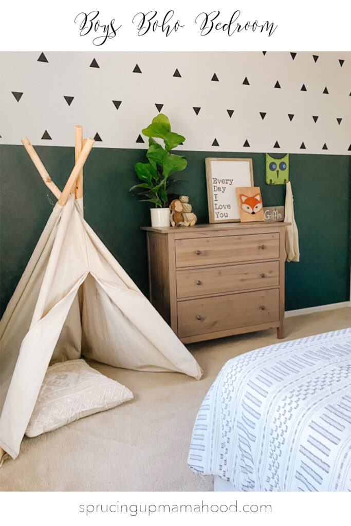 boys boho bedroom idea