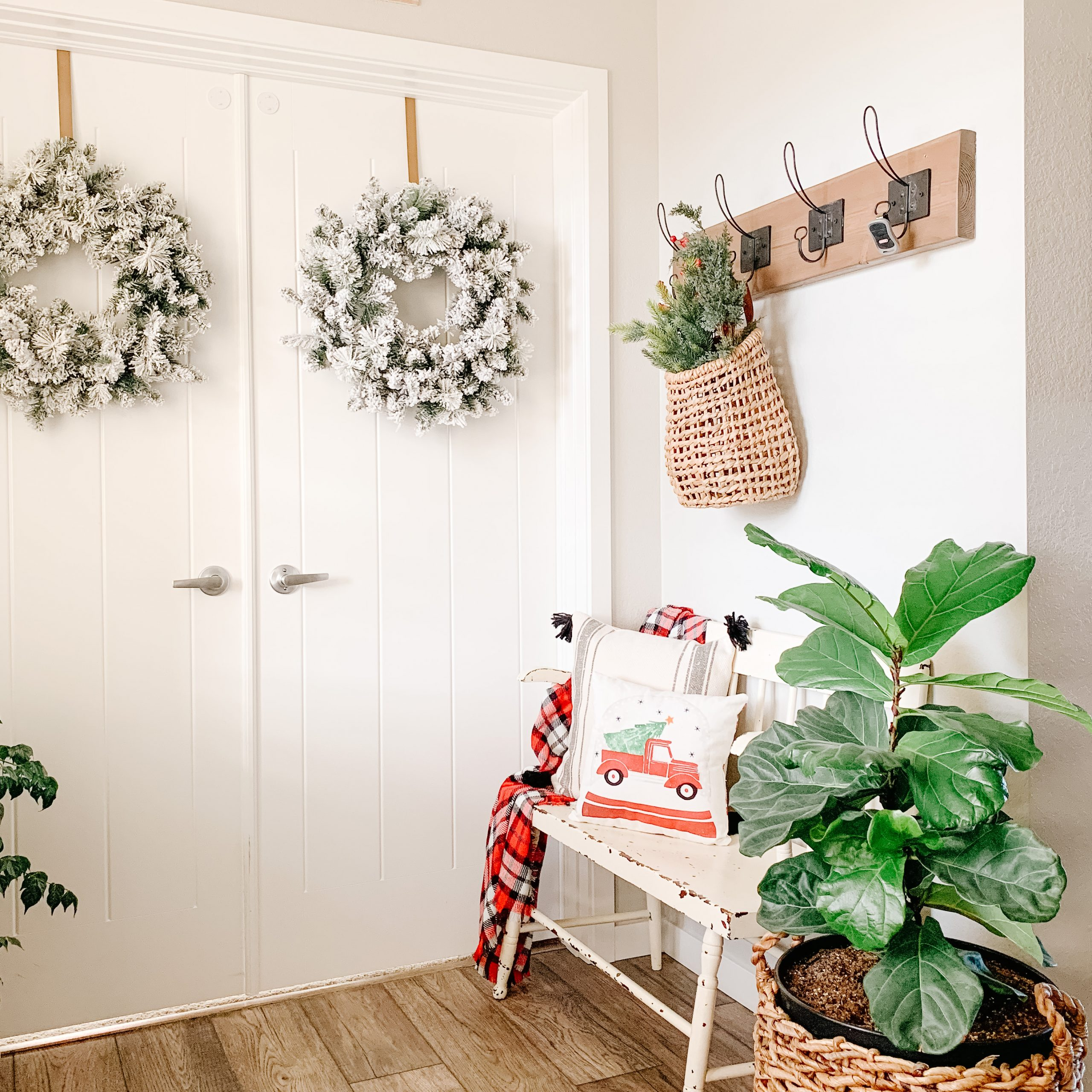 affordable christmas decor wreaths from walmart