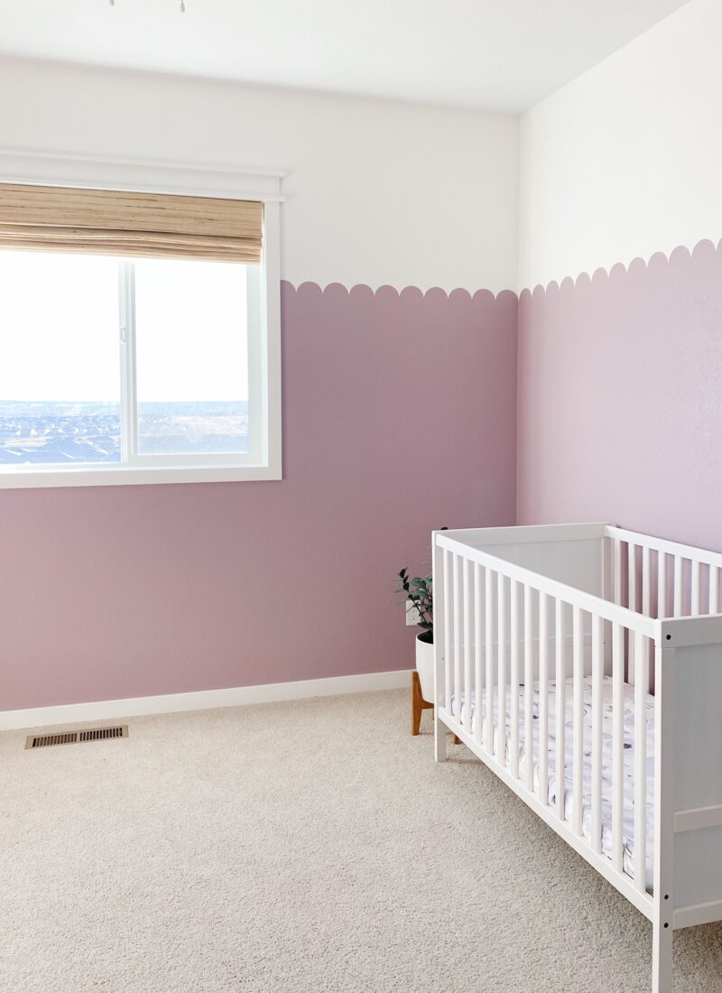 Scalloped Wall in the Nursery