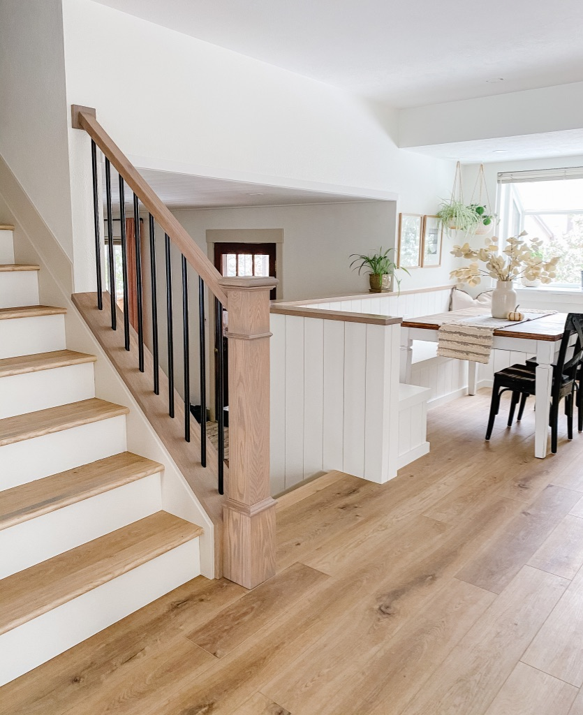 Provenza LVP flooring at Kitchen, Dining Room and Stairs