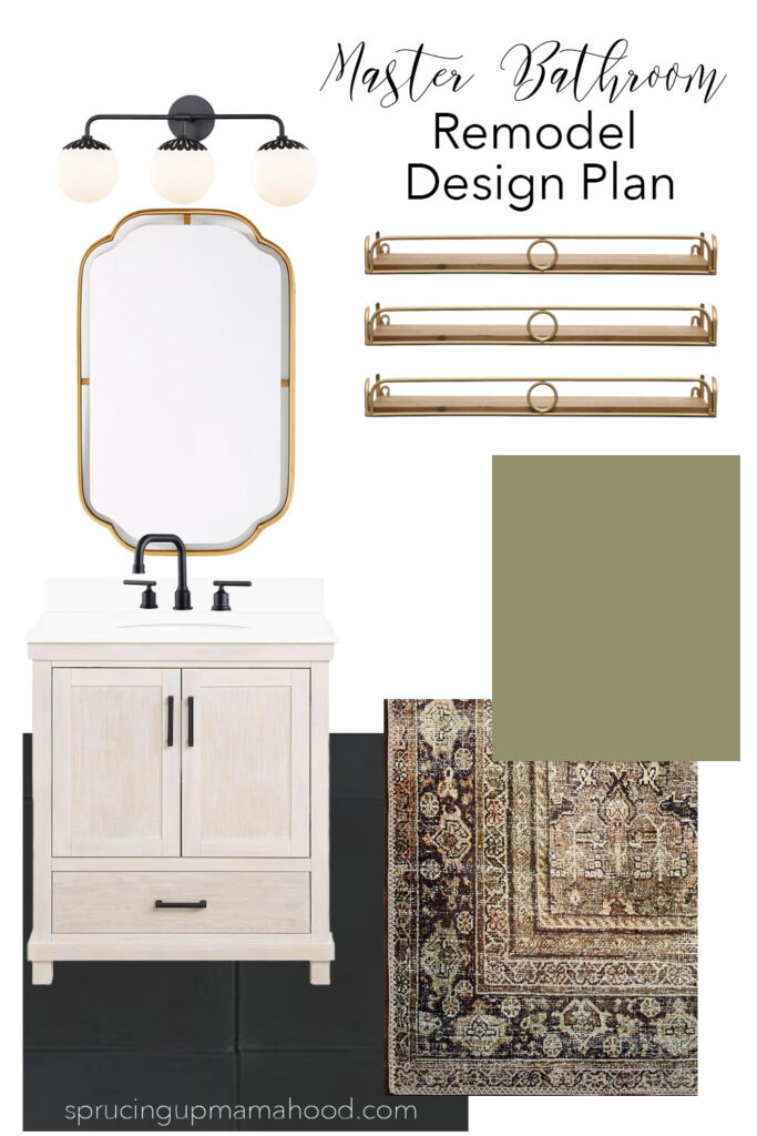 Affordable Small Master Bathroom Remodel Design Plan and the perfect affordable small vanity options