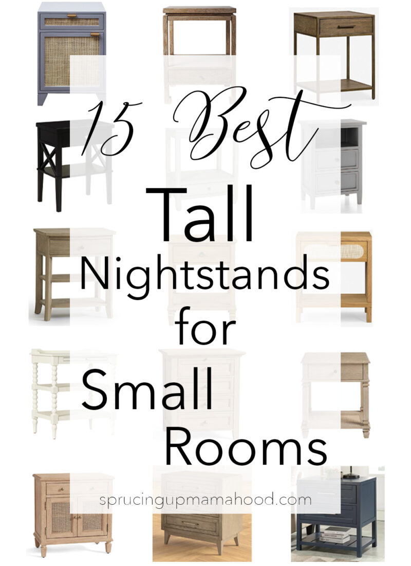 15 Tall Nightstand Ideas for Small Rooms