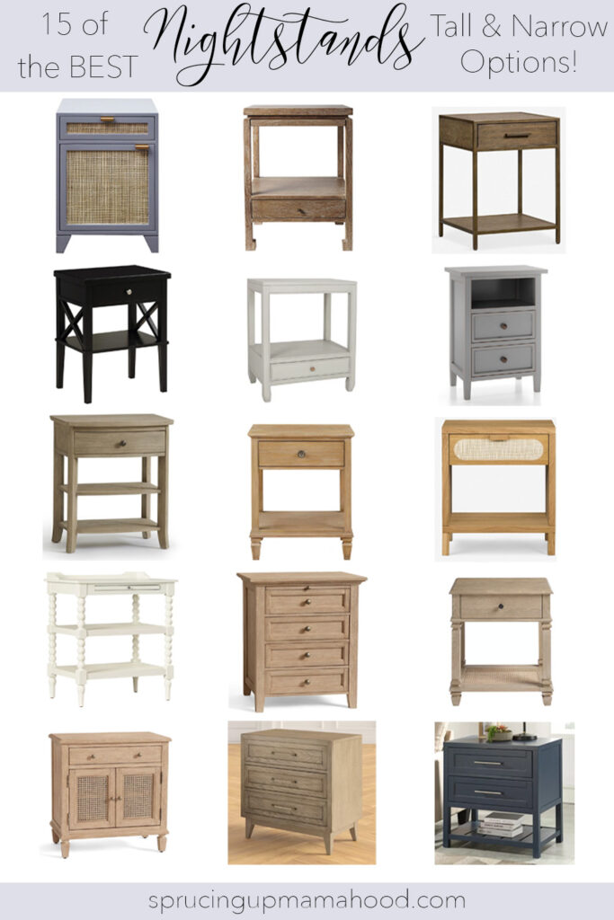 A round-up of the best 15 Tall Nightstand Ideas for Small Rooms #bedroomfurniture #nightstandoptions #smallbedrooms #narrownighstands