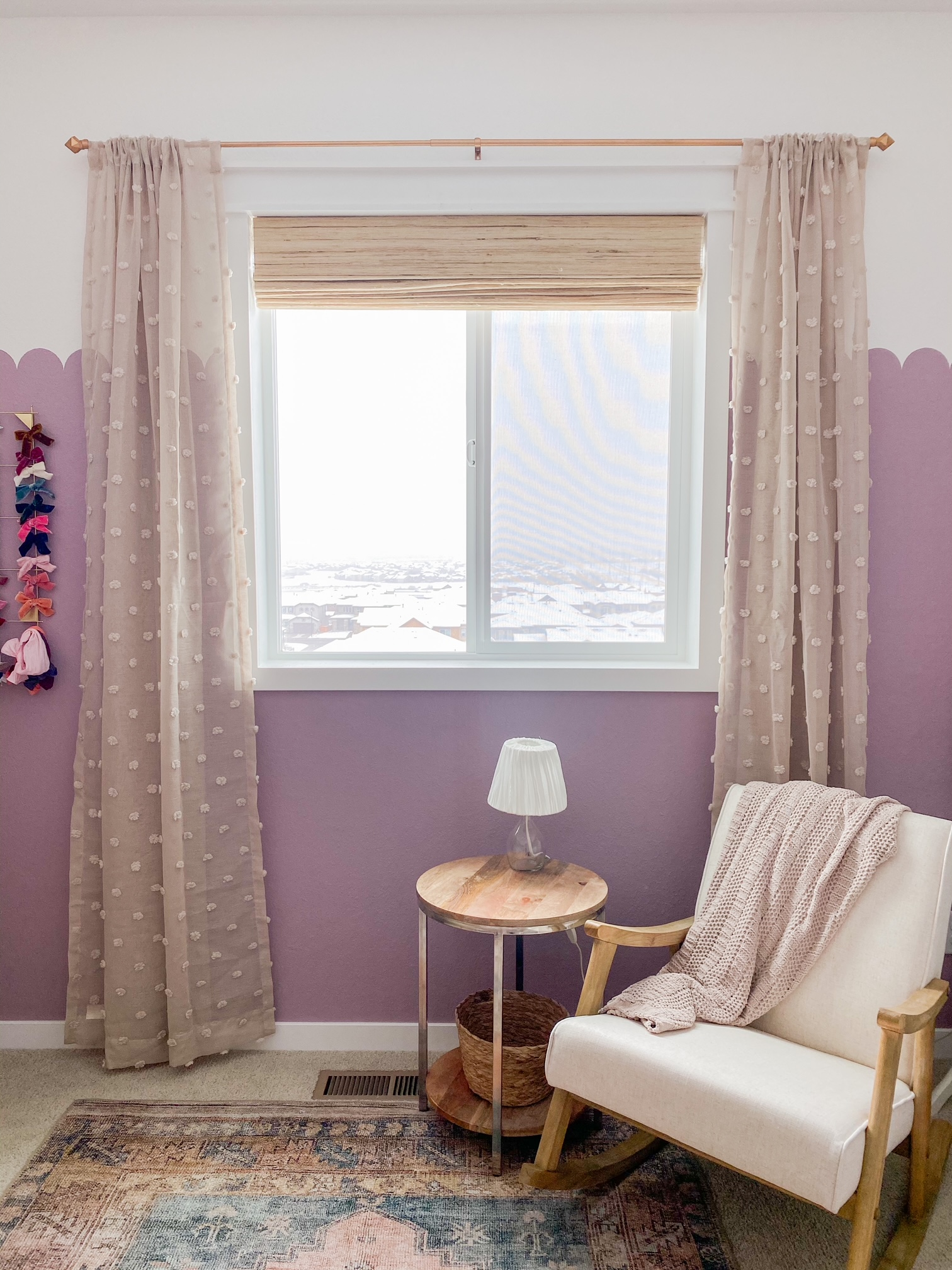 Affordable curtains in my daughters nursery