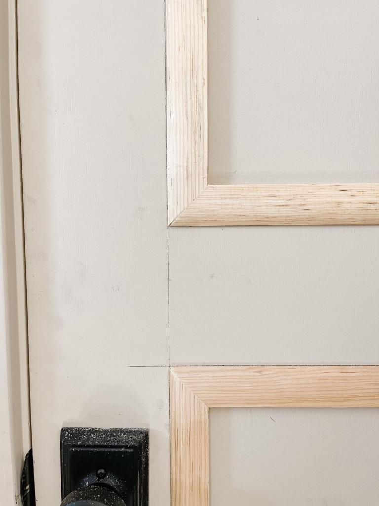 after sanding edges on flat panel door