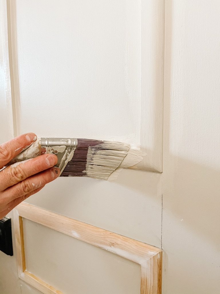 updating flat panel doors with moulding and paint