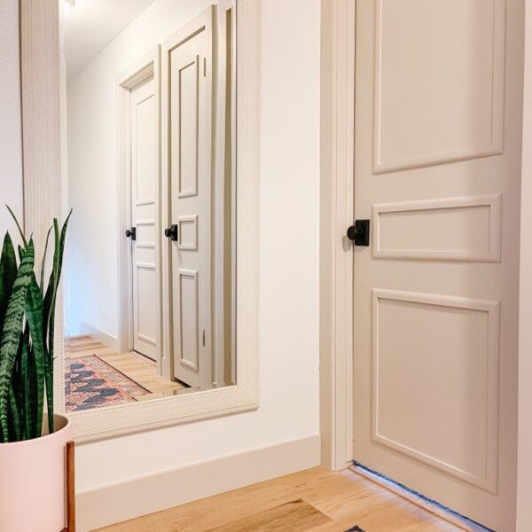 How to Majorly Update Flat Panel Doors on a Budget