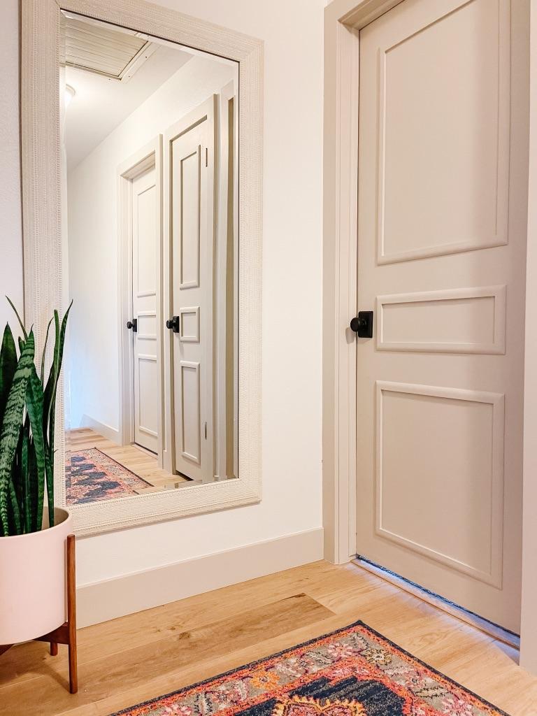 How to Update Flat Panel Doors on a Budget with Easy DIY Door Moulding