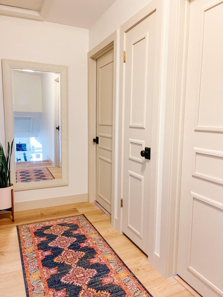Easy DIY door moulding update - how to totally transform your old flat panel door!