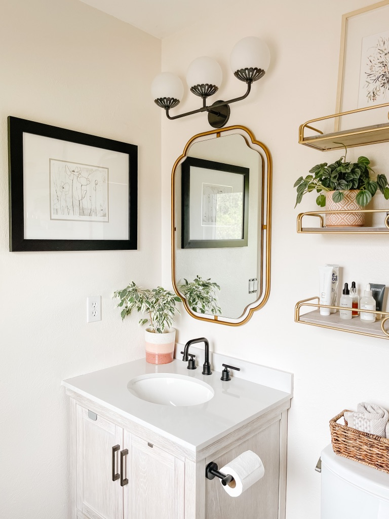 how to update a small bathroom on a budget