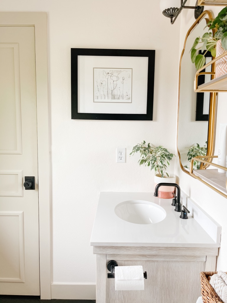 use paint to give your small bathroom a makeover