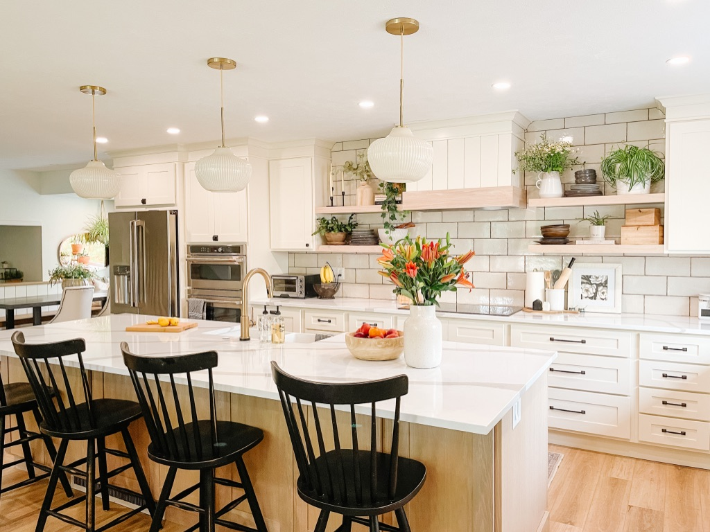 1970s kitchen remodel after photo