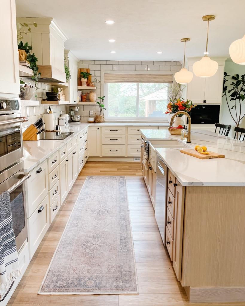 add a kitchen runner to add warmth to your kitchen