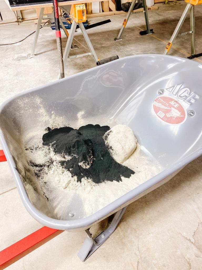 concrete mixture for concrete table top