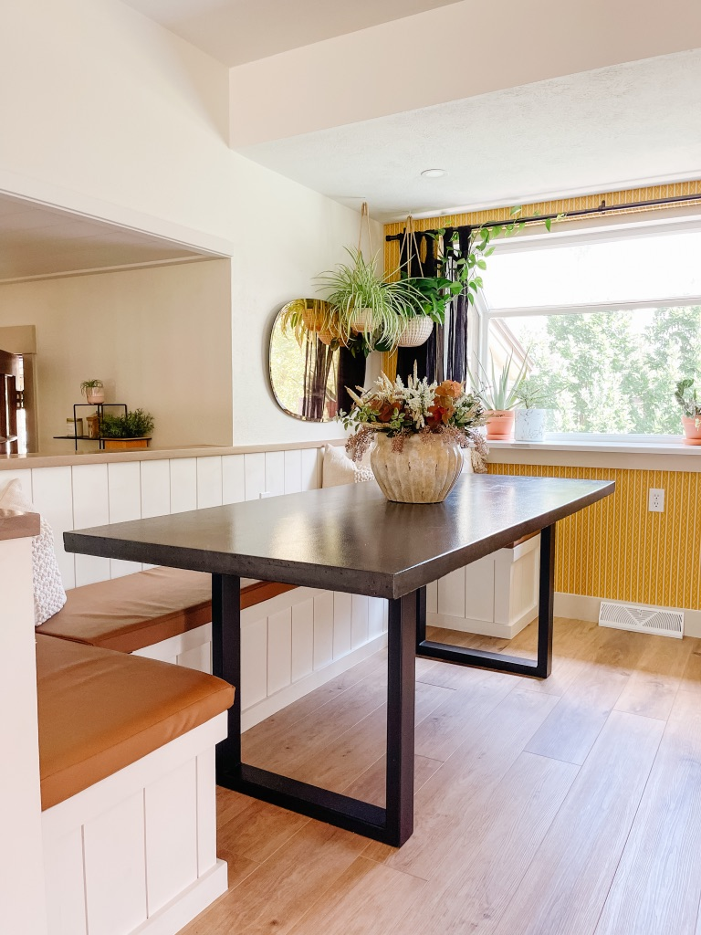 how to make a concrete dining table top