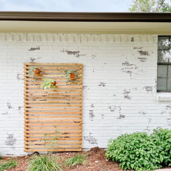 DIY Simple Slatted Wood Trellis
