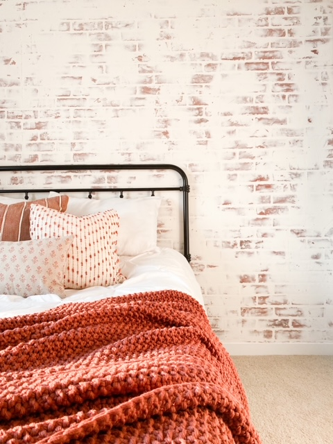 DIY Faux Brick Accent Wall – 3 Simple Steps