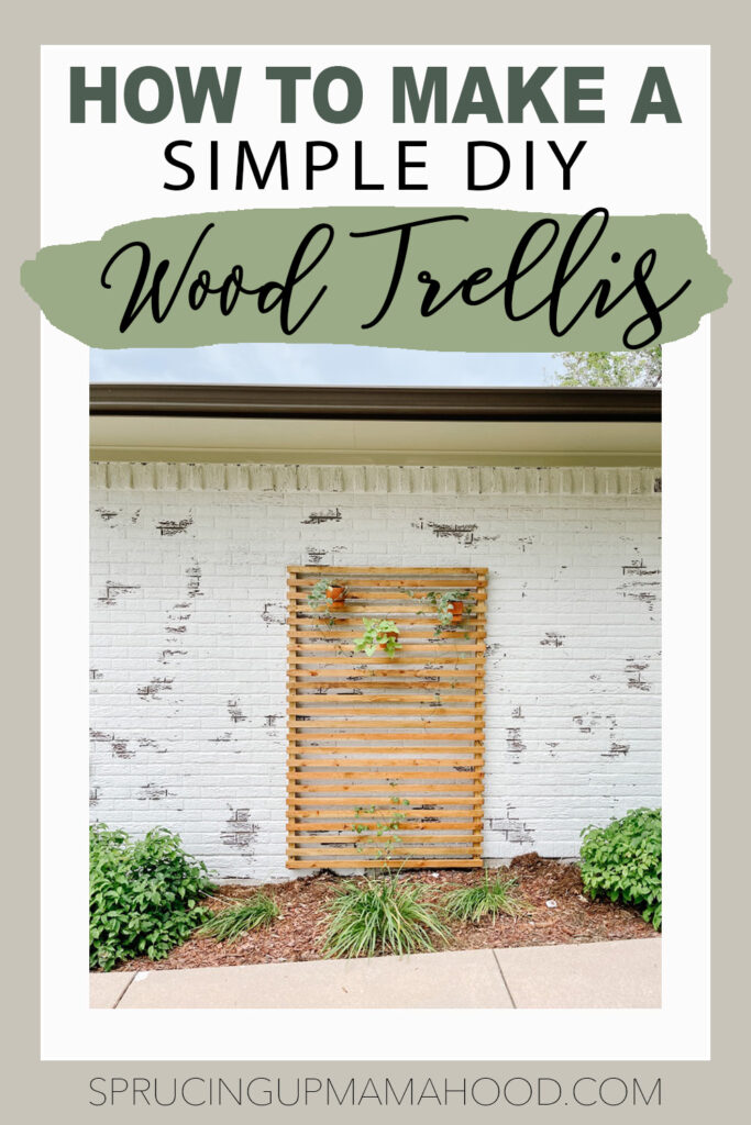 how to make a simple diy wood trellis