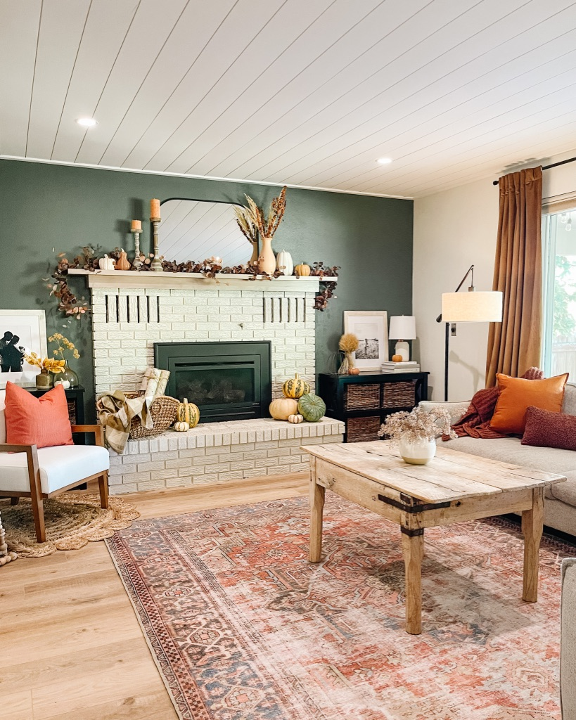simple and cozy fall living room and fireplace decor ideas and tips