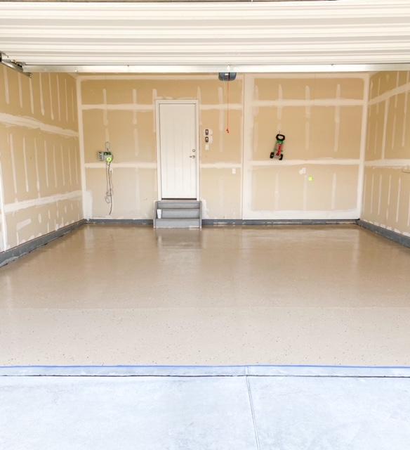 garage epoxy floor finished