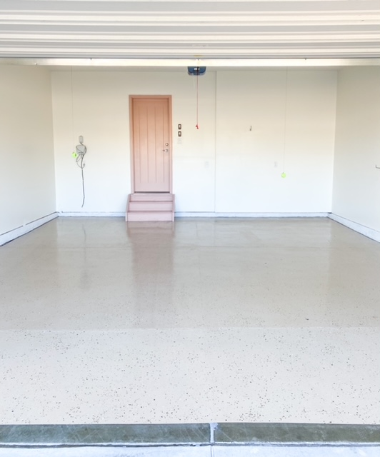 Garage makeover doing DIY Epoxy floors and painting!