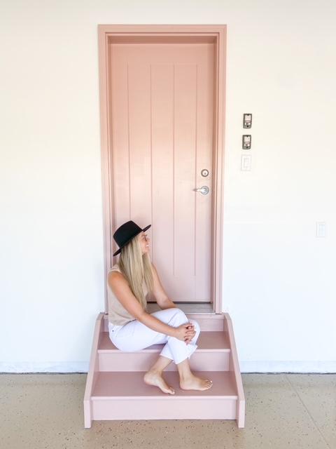 Door painted Art Deco Pink by Behr